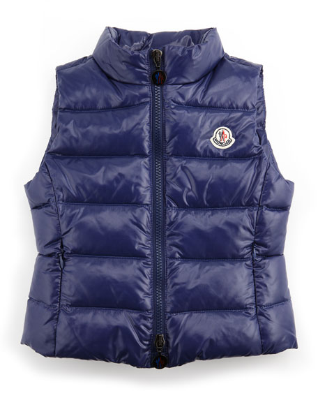 Ghany Quilted Vest, Blue, Sizes 2-6