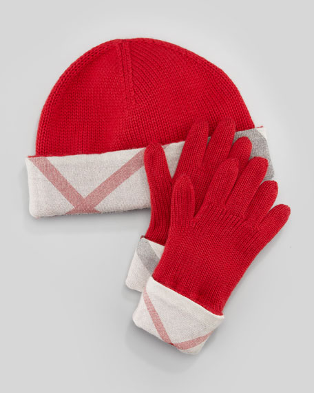 1d2ae8fd664 Burberry Hat   Gloves Box Set