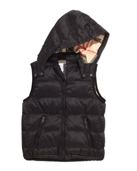 Burberry Boys Quilted Puffer Vest Black 4y 10y