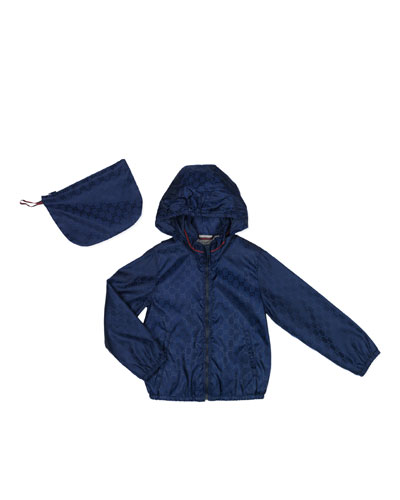 GG Waterproof Nylon Jacket, Oltremare