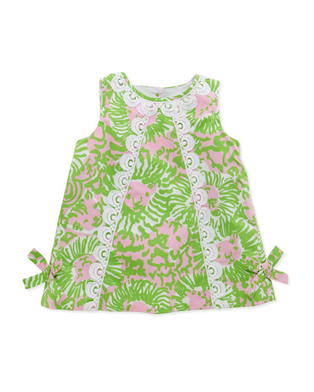 Lilly Pulitzer Baby Lilly Lion Print Shift Dress Pink 3 24 Months