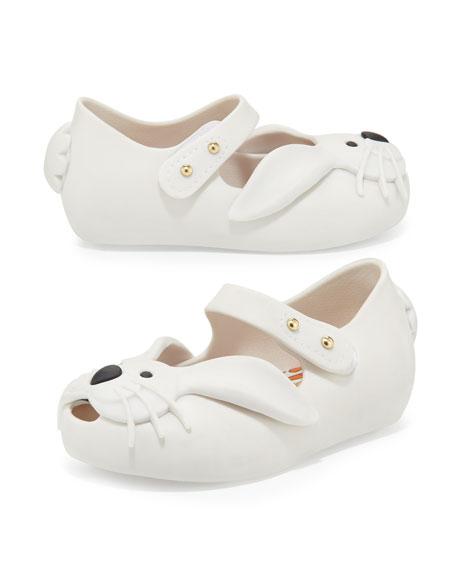 c208758df6a Melissa Shoes Ultragirl Rabbit Jelly Shoe, White, Sizes 5-10