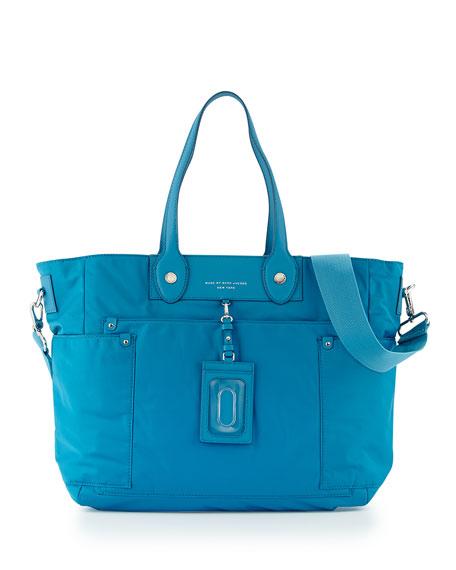 49e078444476d MARC by Marc Jacobs Preppy Nylon Eliz-A-Baby Diaper Bag, Blue
