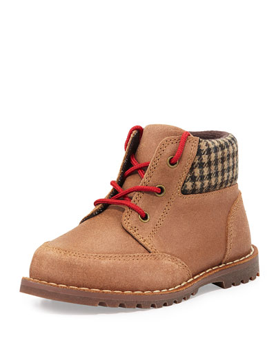 Toddler Orin Boot With Flannel Collar, Chestnut, Sizes 6-11T