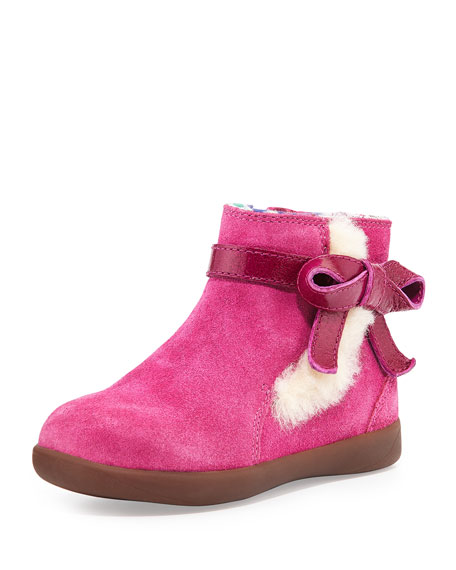 1797923ac03 Libbie Suede Bootie with Bow Fuchsia Toddler