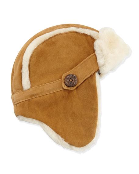 2d4eff601c60f UGG Australia Shearling Fur-Lined Trapper Hat