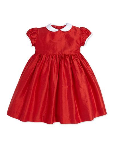 Taffeta Party Dress, Red, 2Y-14Y