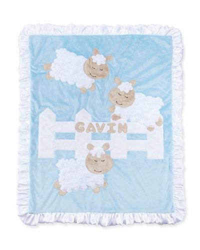 Dreaming of Ewe Sheep Blanket, Blue