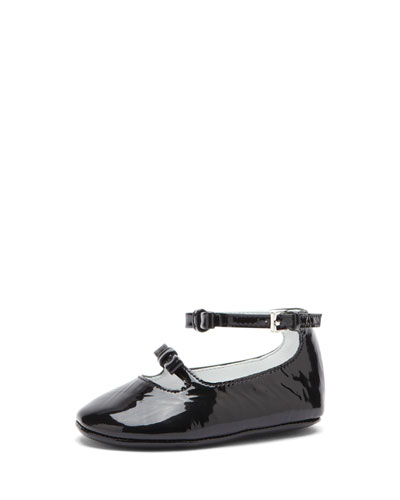 Baby Ballet Flat with Bow, Black