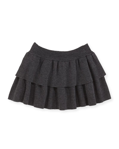 Tiered Knit Skirt, Sizes 2-7