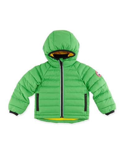 Kids' Bobcat Hooded Jacket, Green, Sizes 2-7