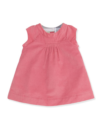 Newborn Corduroy Dress with Bloomers, Camelia Pink, 3-24 Months