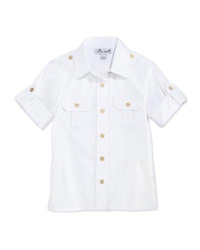 Tracy Camp Shirt, White, 7Y-12Y
