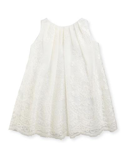 Sleeveless Lace Dress, Ivory, Sizes 4-6X