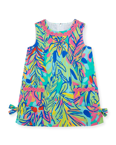 Little Lilly Printed Classic Shift Dress, Multi Hot Spot, Sizes 2-10