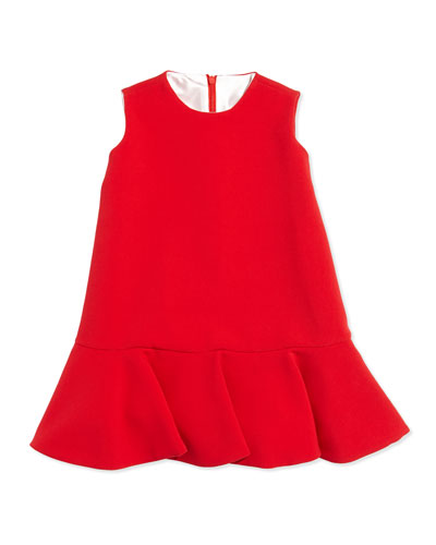 Crepe Flounce Dress, Sizes 4-6X