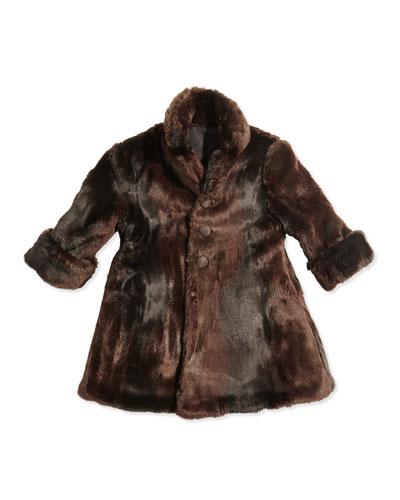 Reversible Faux-Fur Coat, Sizes 7-12