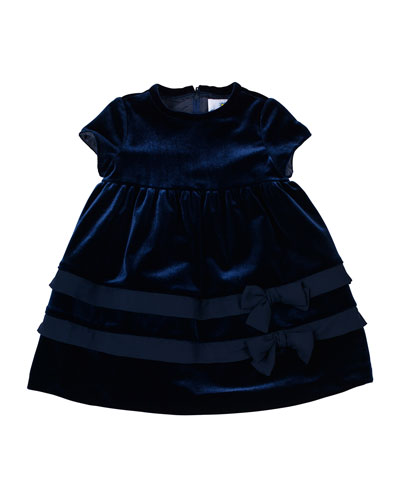 Velvet Dress with Chiffon-Trim, 12-24 Months