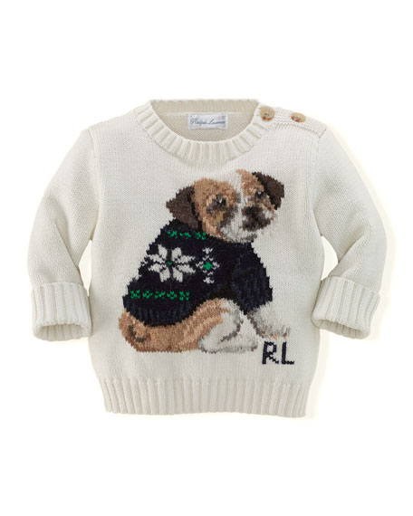 Ralph Lauren Childrenswear Boys Intarsia Knit Holiday Dog Sweater