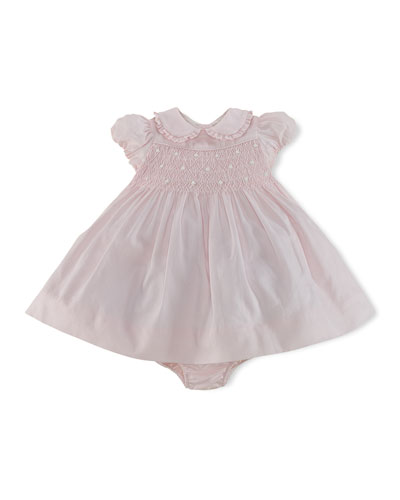 Smocked Woven Dress & Bloomer, 3-24 Months
