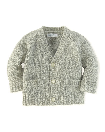 Merino Wool Cardigan, 3-12 Months