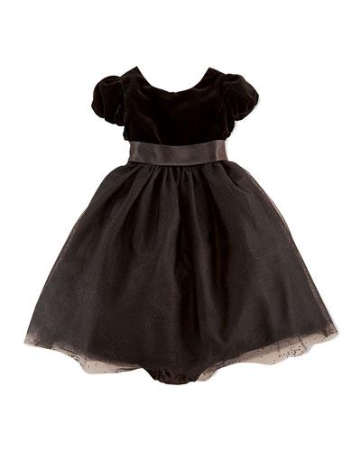 Velvet & Sparkling Tulle Dress, 9-24 Months