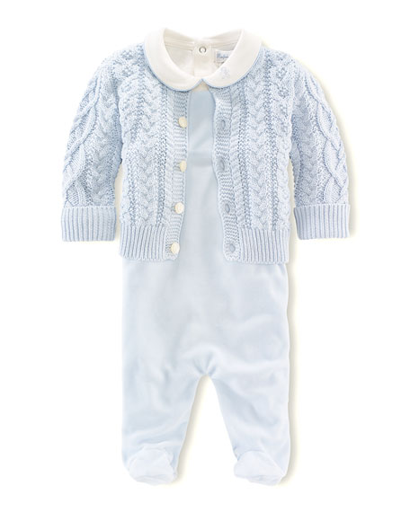 3cc23a681 Ralph Lauren Childrenswear Aran-Knit Cardigan