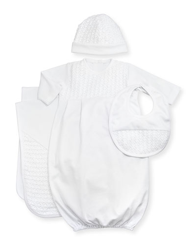 Sweet Moments Sleep Gown, White, NB-Small