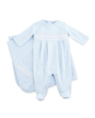 Classic Baby Distinct Blanket, Blue