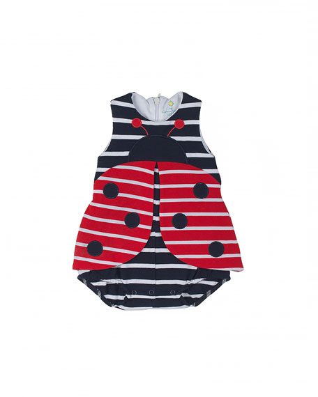 Florence Eiseman Striped Pique Ladybug Bodysuit e67742bcd