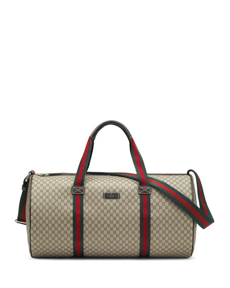 Gucci Embossed Faux-Leather Gym Bag