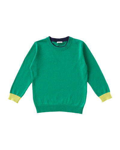 Lightweight Pullover Sweater, Green, Size 3T-4T