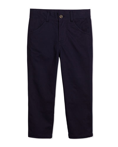 Oh-What-A-Twill Classic Twill Pants, Navy, 2T-7Y