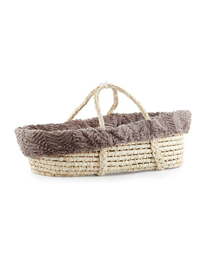 Ziggy Moses Basket w/ Bedding, Slate