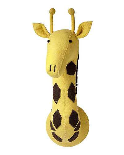 Felt Giraffe Head Wall Mount