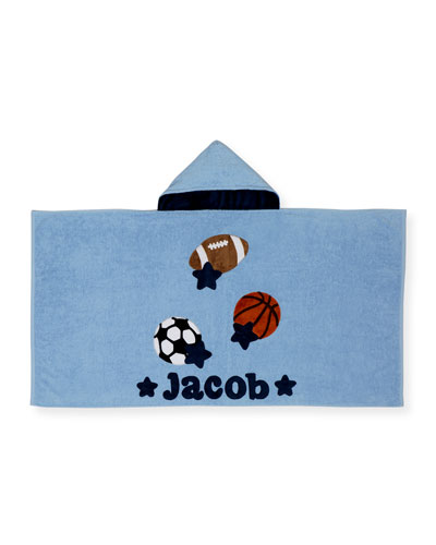 Good Sport Hooded Towel, Gray/Blue