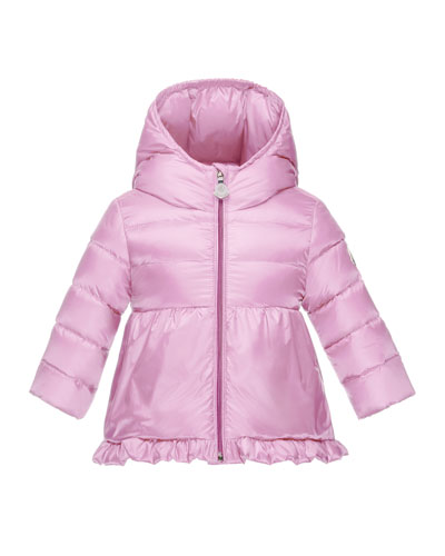 Odile Hooded Down Puffer Jacket, Pink, Size 12M-3