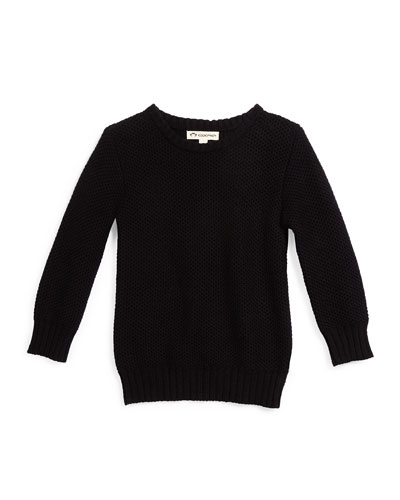 Mercer Pullover Sweater, Black, Size 4T-14