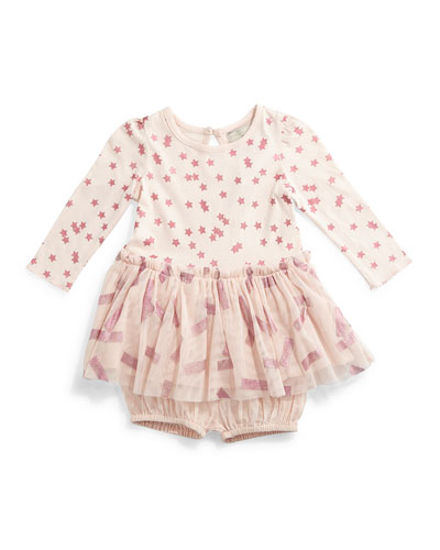 Primrose Stars & Stripes Combo Dress, Pink, Size 6-24 Months