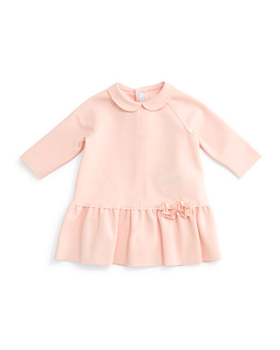 Raglan Ponte Dress, Light Pink, Size 2-6