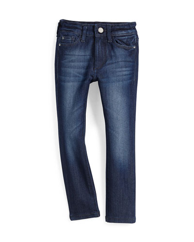 Faded Chloe Skinny Activex Denim Jeans, Lima, Size 7-16