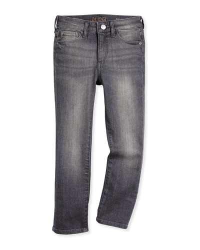 Brady Slim-Fit Faded Jeans, Beam, Size 8-16