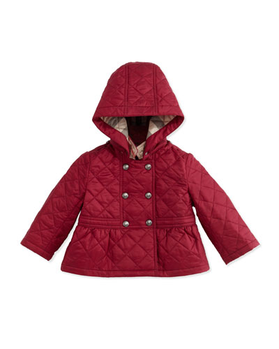 Portree Hooded Military Jacket, Fritillary Pink, Size 6M-3