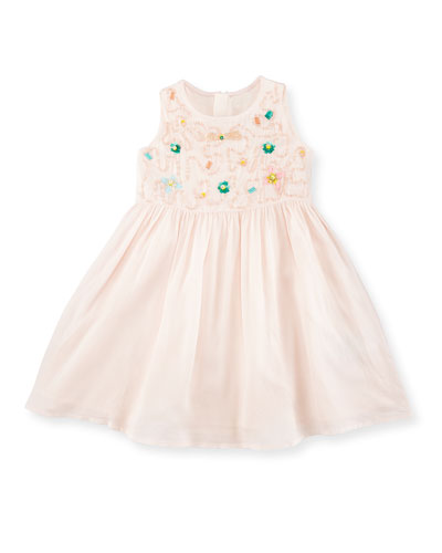 Sleeveless Sequined Voile Sundress, Pink, Size 12 Months-3