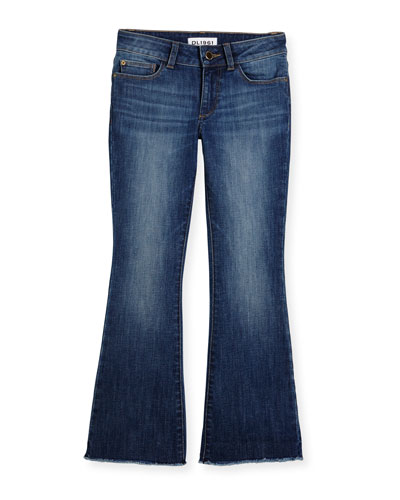 Isabel Faded Flare Jeans, Cozy, Size 7-16
