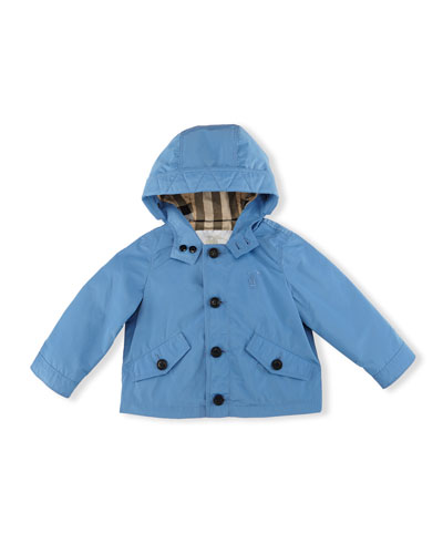 Arlie Hooded Packaway Parka, Lupin Blue, Size 12M-3