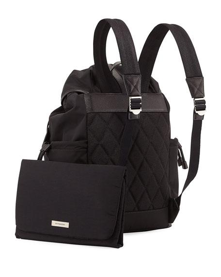burberry watson flap top diaper bag backpack black. Black Bedroom Furniture Sets. Home Design Ideas