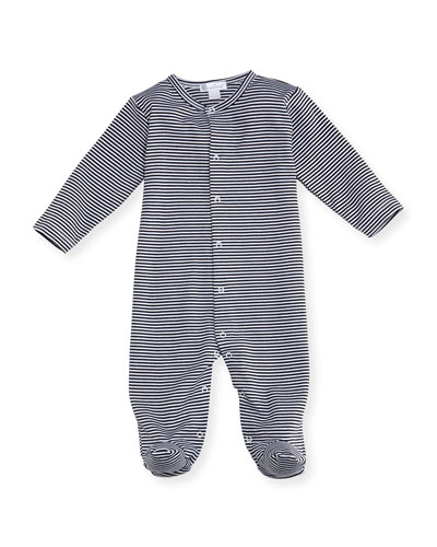 Striped Footie Pajamas, Size 0-9 Months