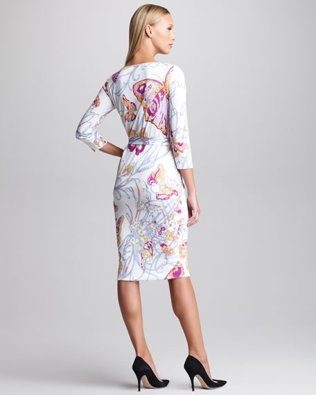Marilyn Butterfly-Print Dress