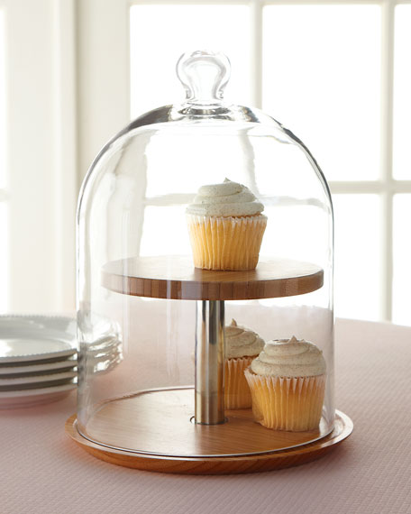 Two Tier Glass Cheese Dome